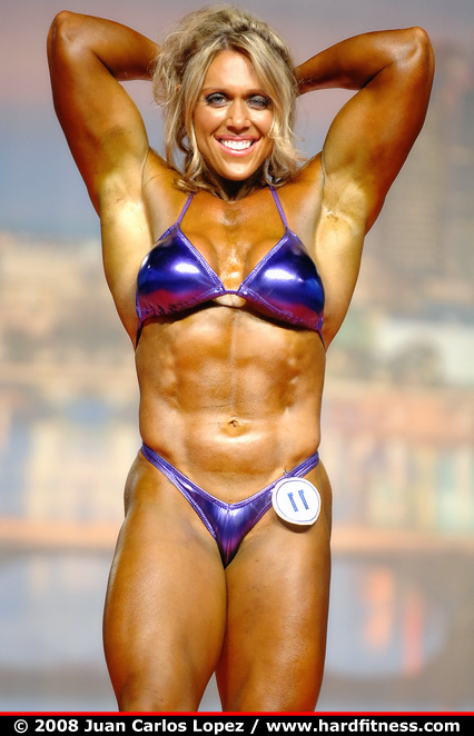Colette Nelson - prejudging - 2008 Arnold Classic and