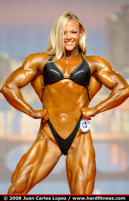 Kristy Hawkins - prejudging - 2008 Arnold Classic and