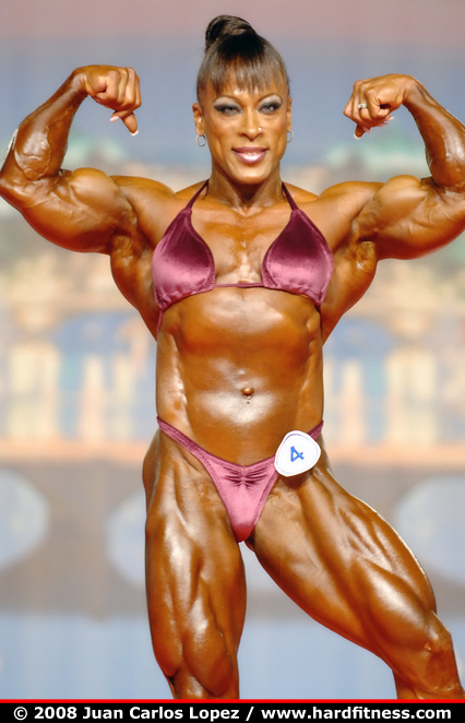 Rosemary Jennings - prejudging - 2008 Arnold Classic and