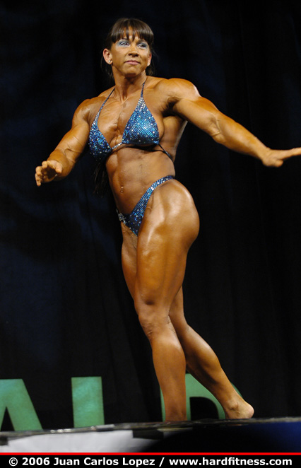 Candy Canary http://www.hardfitness.com/competitions/emeraldcup2006/npcbodybuilding/heavyweight/candycanary/finals/index.html