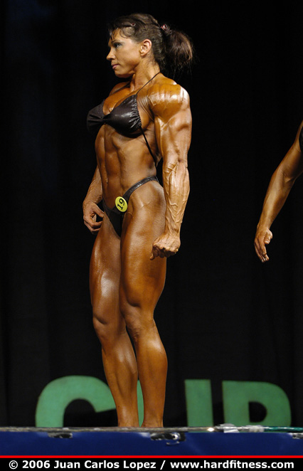 Candy Canary http://www.hardfitness.com/competitions/emeraldcup2006/npcbodybuilding/heavyweight/candycanary/prejudging/index.html
