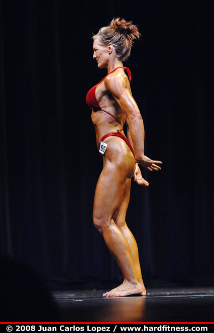 Mary Connell - prejudging - 2008 NPC Natural Western USA