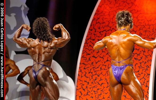 Prejudging 2006 olympia fitness figure and ms olympia