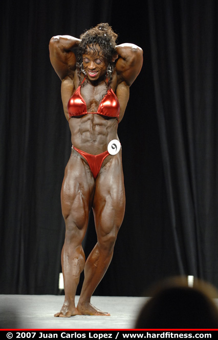 Iris Kyle - prejudging - 2007 Olympia Fitness, Figure and