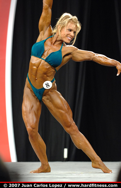 Kessler prejudging 2007 olympia fitness figure and ms olympia