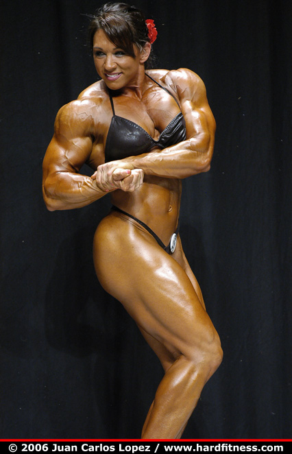 Candy Canary http://hardfitness.com/competitions/usavegas2006/npcbodybuilding/heavyweight/candycanary/prejudging/index.html
