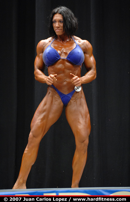 Candy Canary http://www.hardfitness.com/competitions/usavegas2007/npcbodybuilding/heavyweight/candycanary/prejudging/index.html