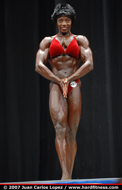 Joella Bernard - prejudging - 2007 USAs Figure and Bodybuilding